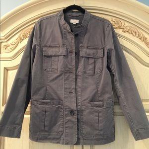 LOFT Gray Utility Jacket